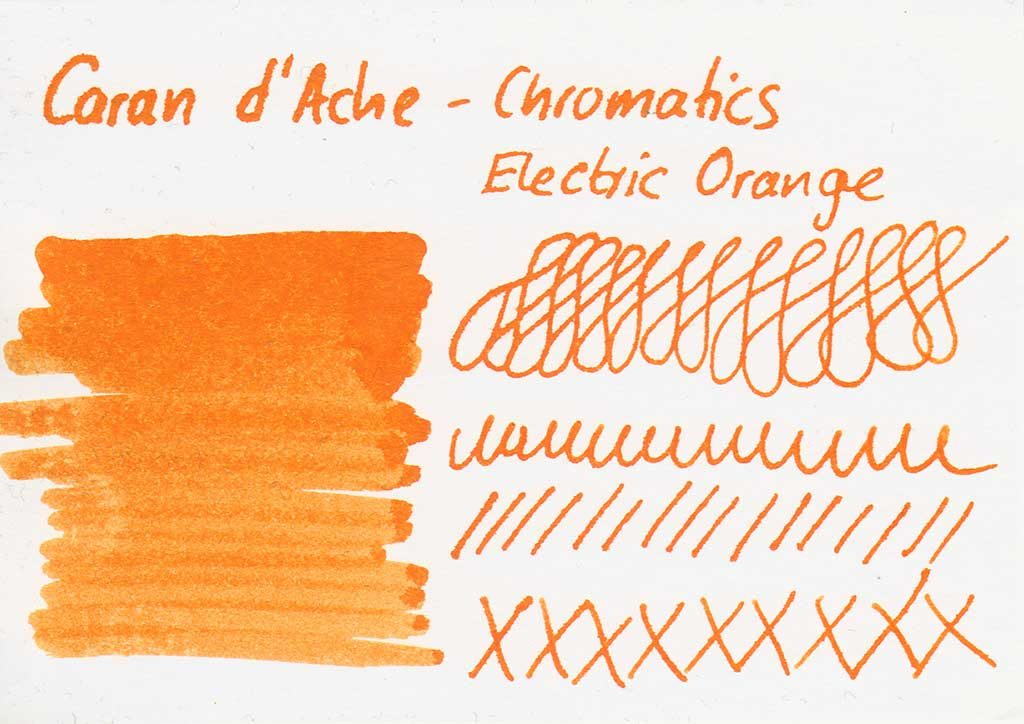 caran d ache electric orange karte 1024x724 - Die Caran d'Ache - Electric Orange