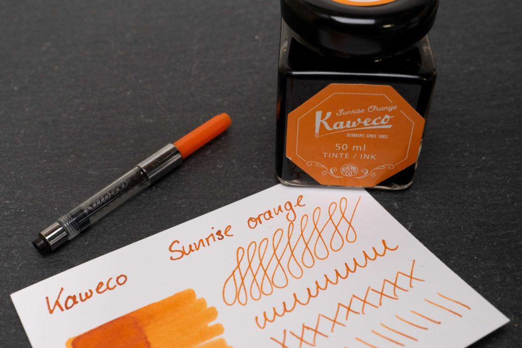 Kaweco Sunrise Orange – Tinte des Monats