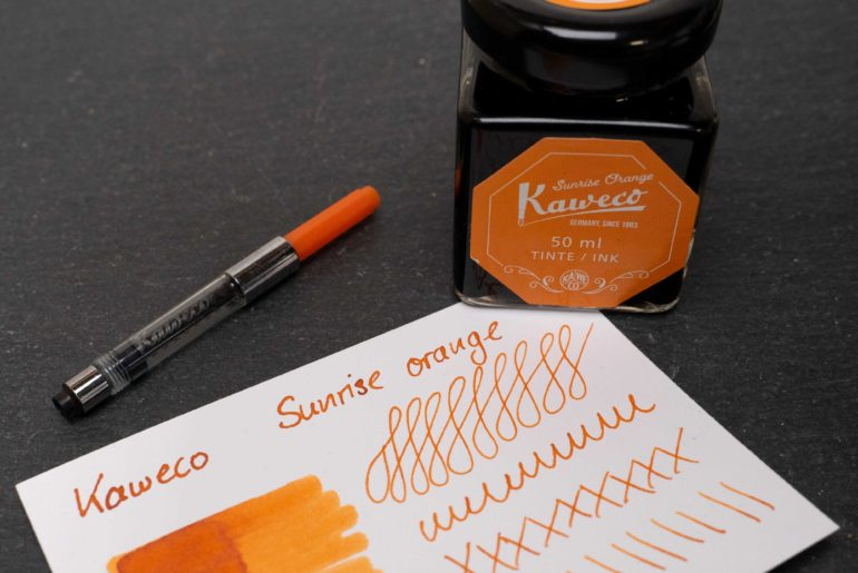 kaweco sunrise orange tdm 770x515 - Kaweco Sunrise Orange - Tinte des Monats